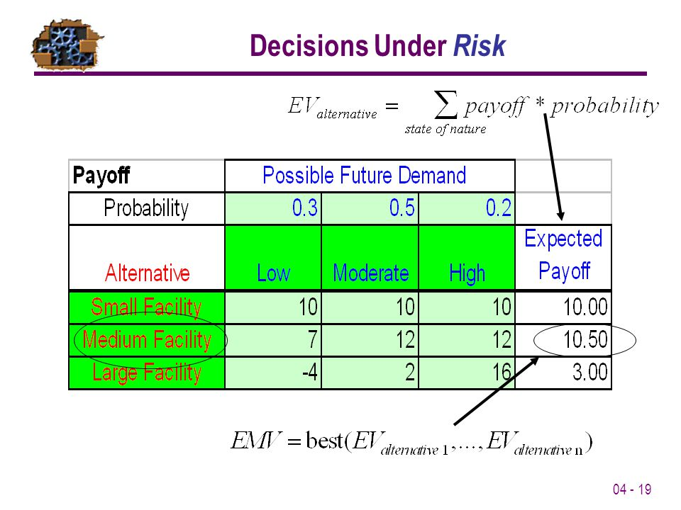 Decisions Under Risk