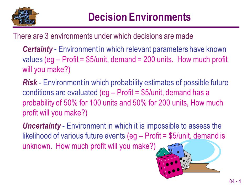 Decision Environments