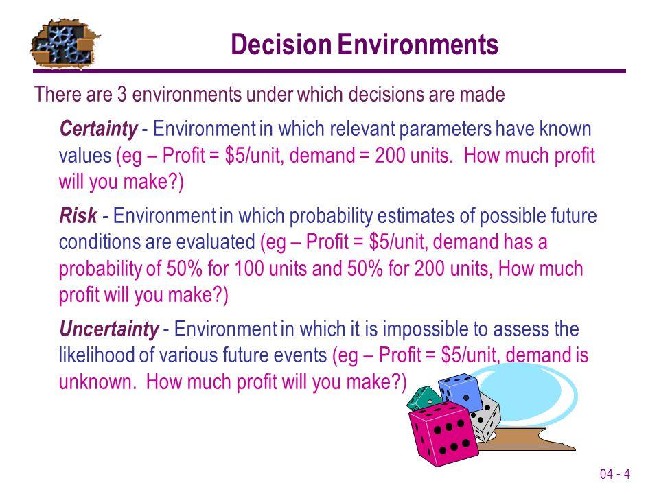 Decision Environments