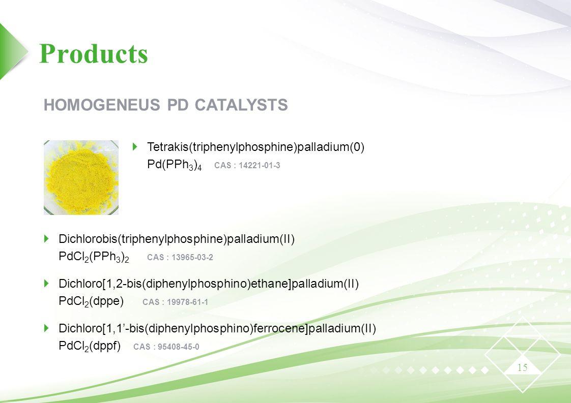 Products HOMOGENEUS PD CATALYSTS
