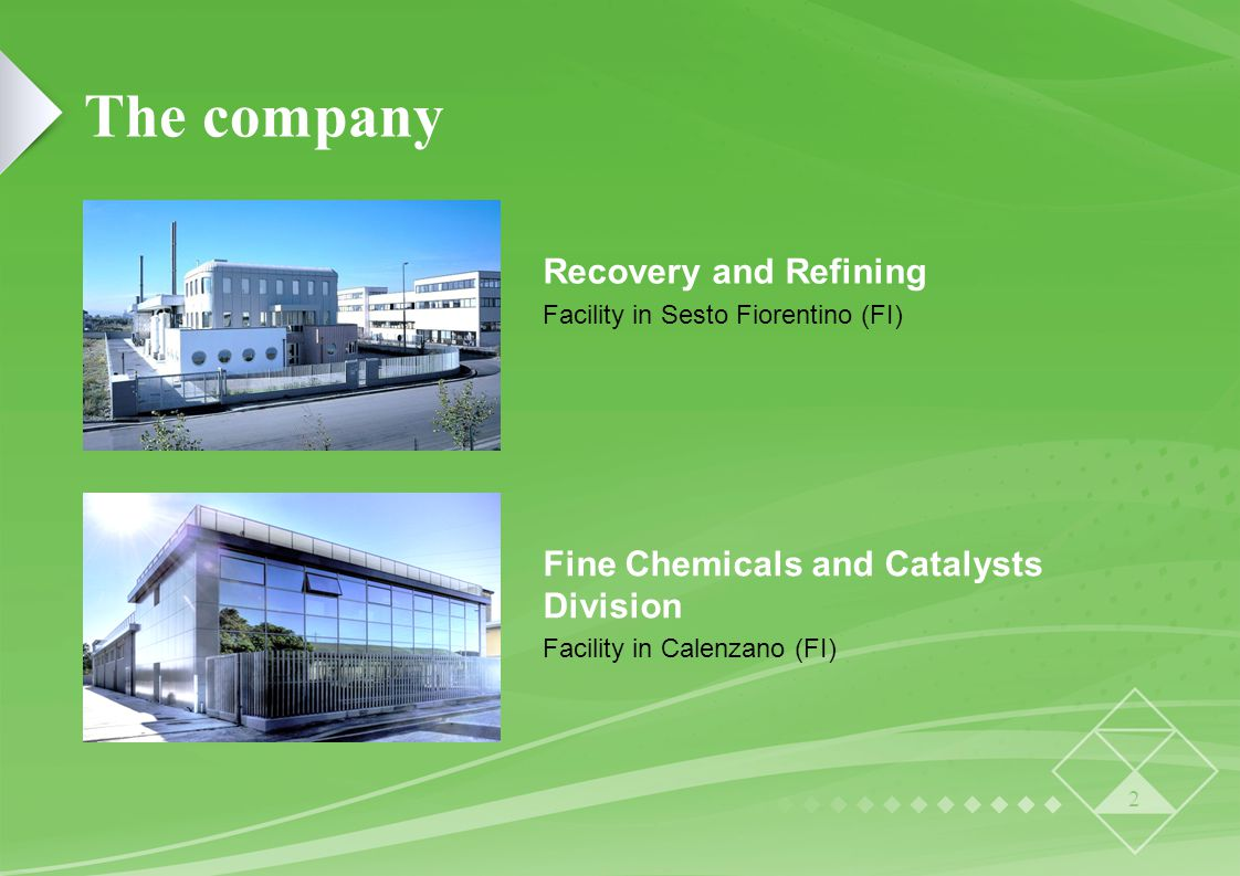 Fine Chemicals and Catalysts Division Facility in Calenzano (FI)