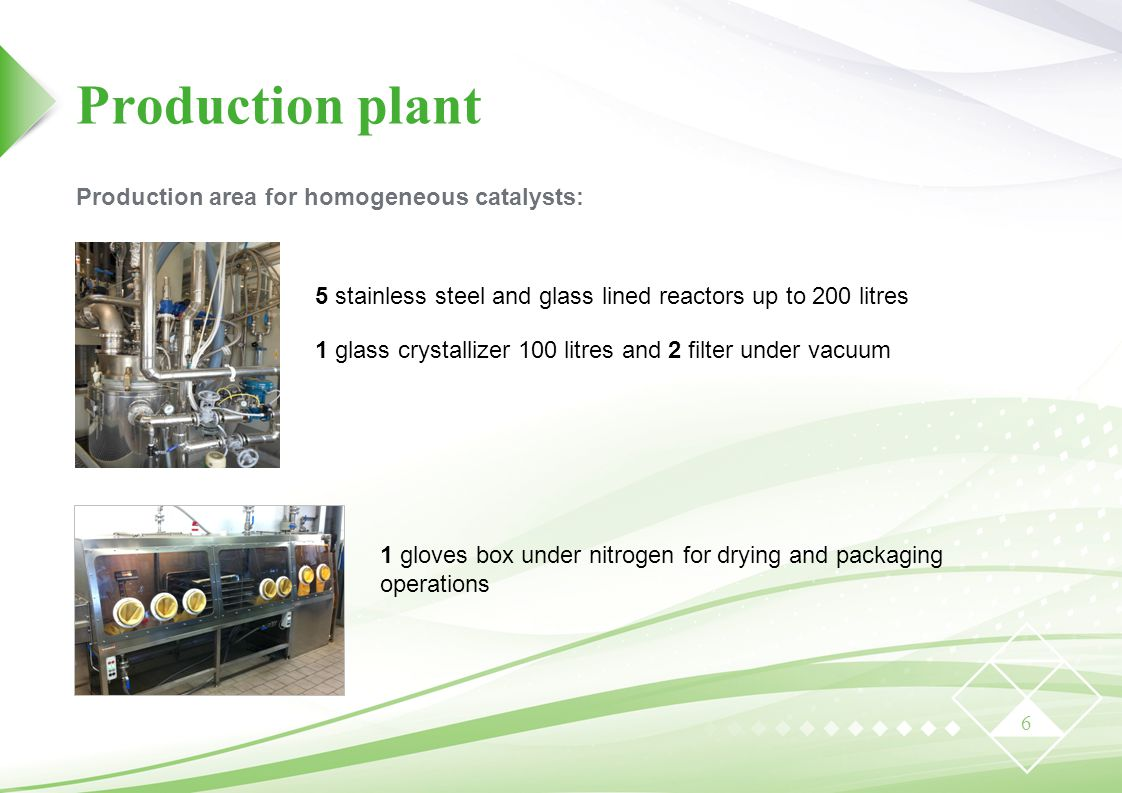 1 gloves box under nitrogen for drying and packaging operations
