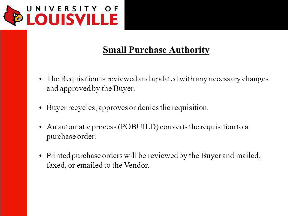 Small Purchase Authority