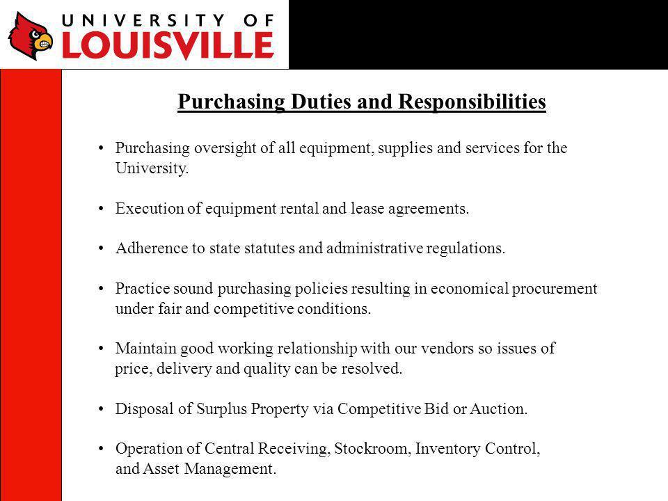 Purchasing Duties and Responsibilities