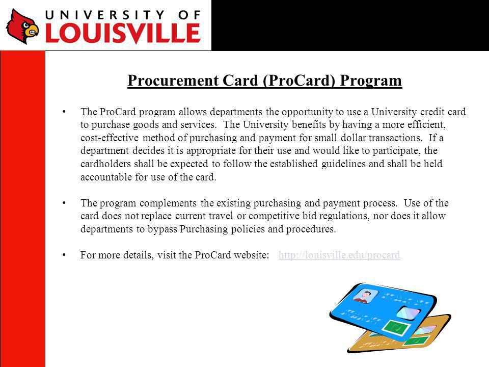 Procurement Card (ProCard) Program