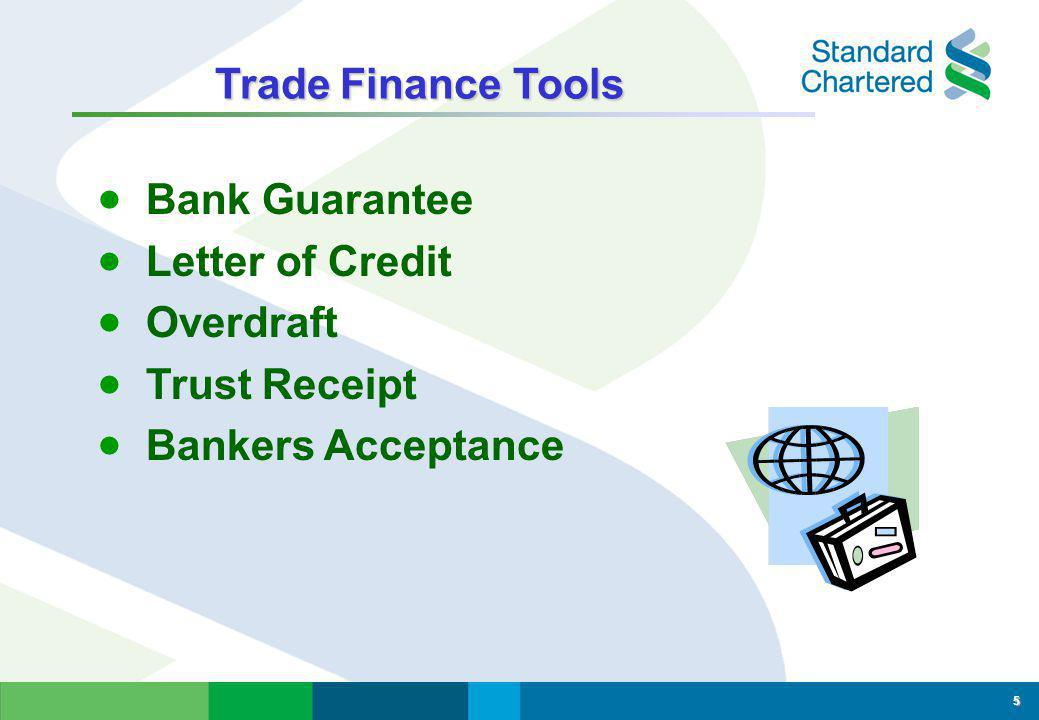 Trade Finance Tools Bank Guarantee Letter of Credit Overdraft