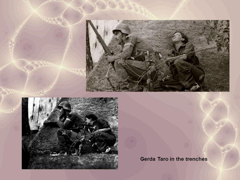 Gerda Taro in the trenches