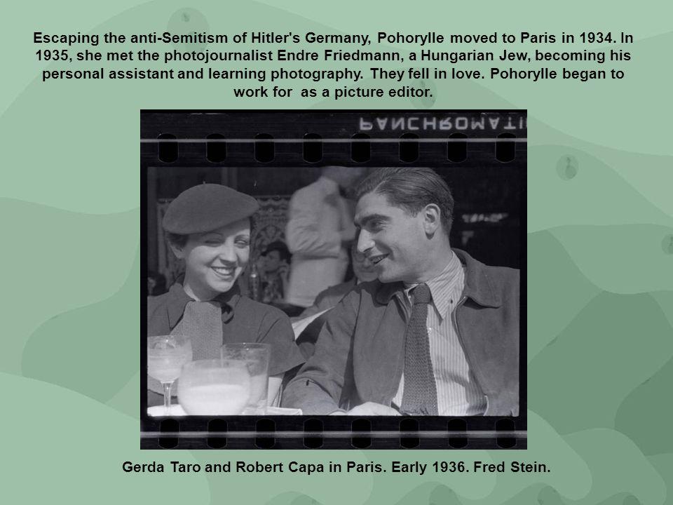 Gerda Taro and Robert Capa in Paris. Early 1936. Fred Stein.