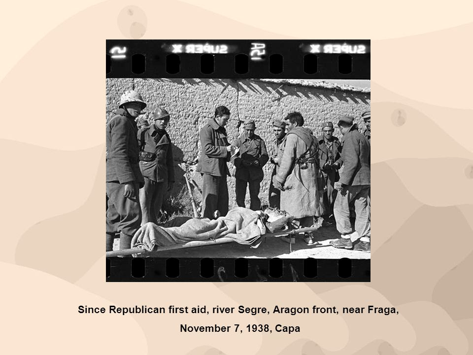 Since Republican first aid, river Segre, Aragon front, near Fraga,