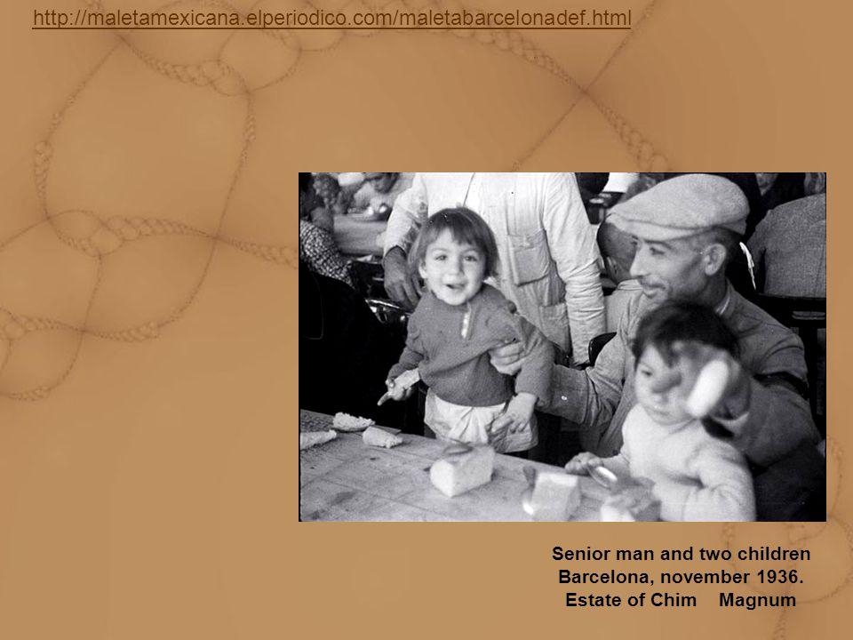http://maletamexicana.elperiodico.com/maletabarcelonadef.html Senior man and two children Barcelona, november 1936.