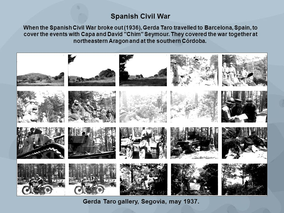 Gerda Taro gallery, Segovia, may 1937.