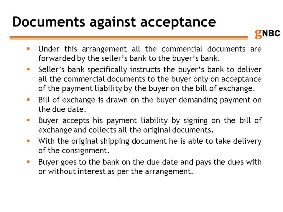 Documents against acceptance