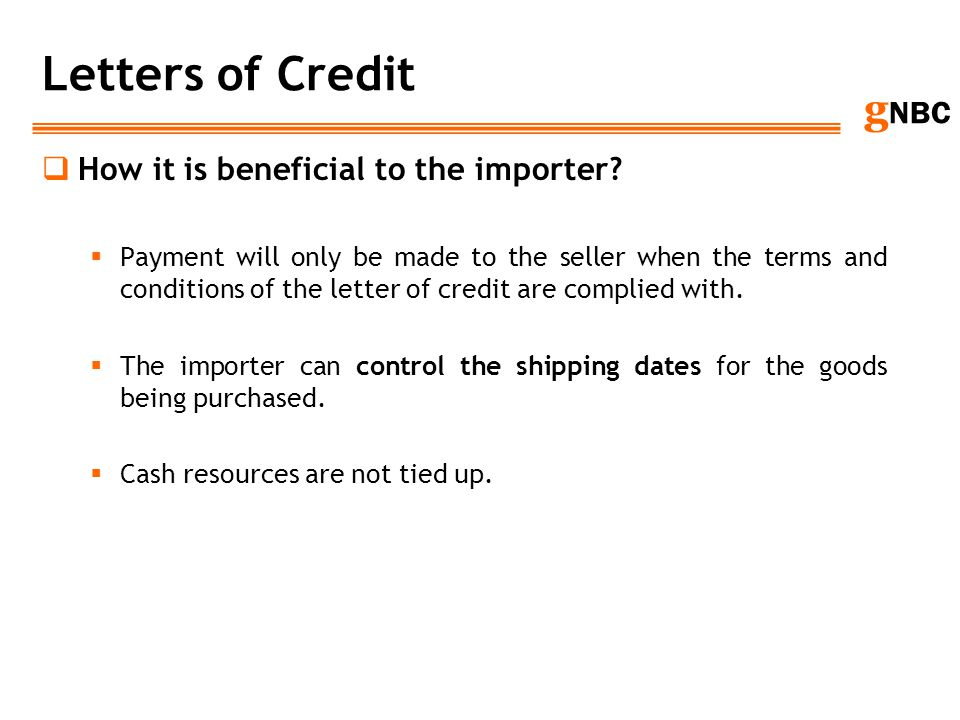 Letters of Credit How it is beneficial to the importer