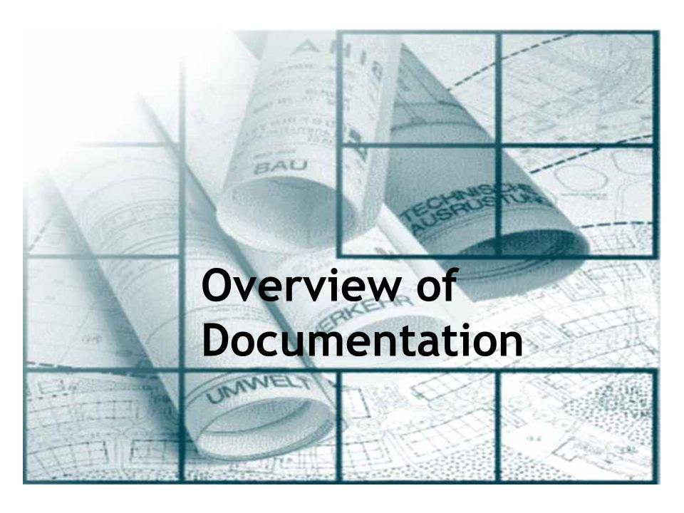 Overview of Documentation