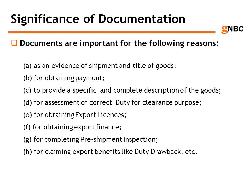 Significance of Documentation