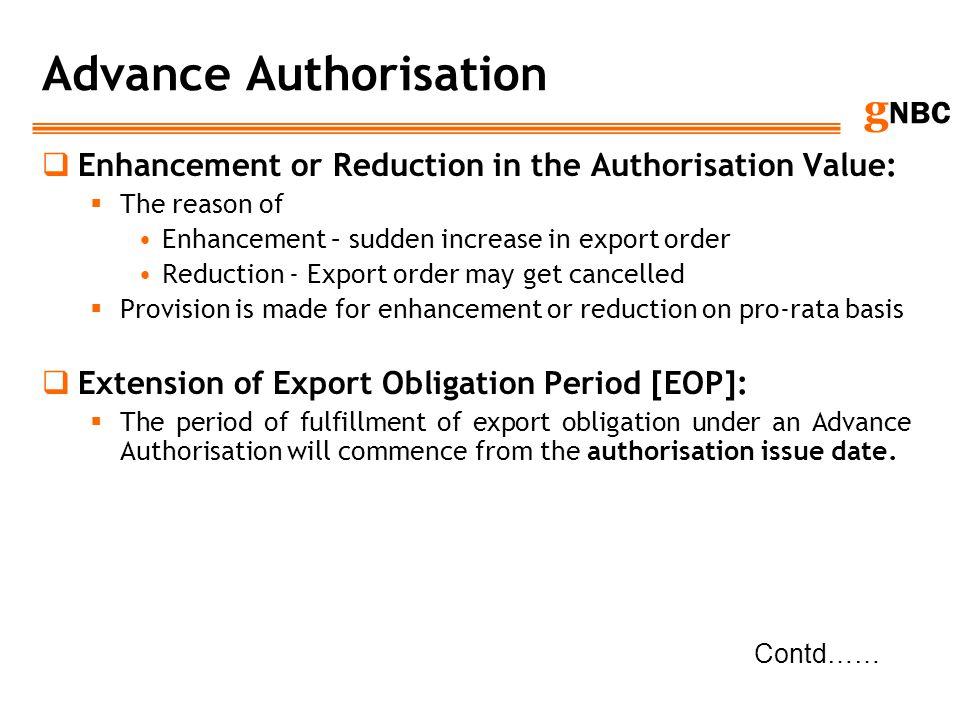Advance Authorisation