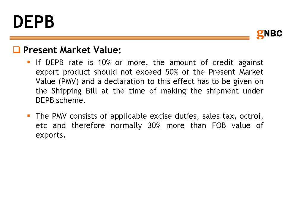 DEPB Present Market Value: