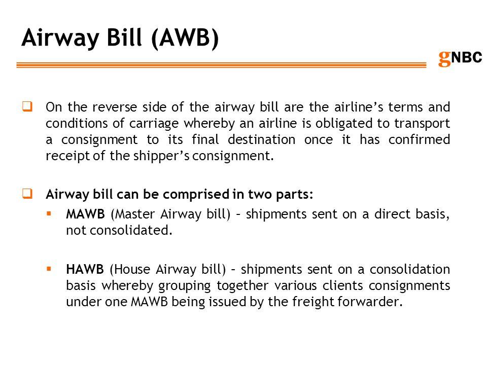 Airway Bill (AWB)