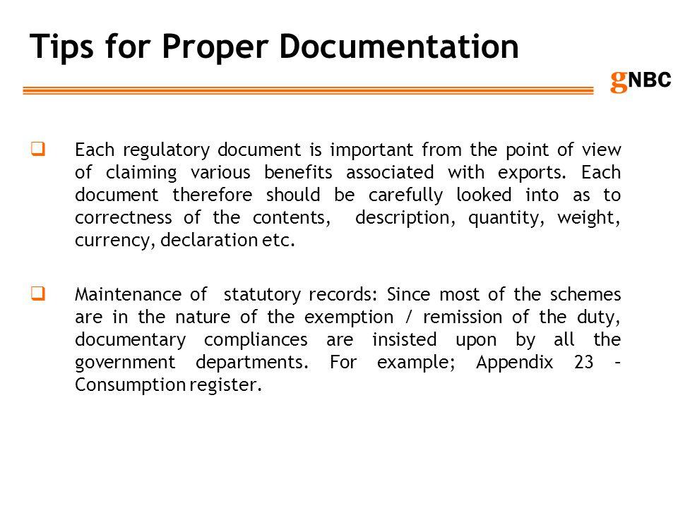 Tips for Proper Documentation