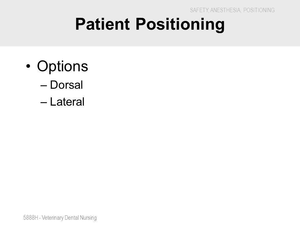 Patient Positioning Options Dorsal Lateral