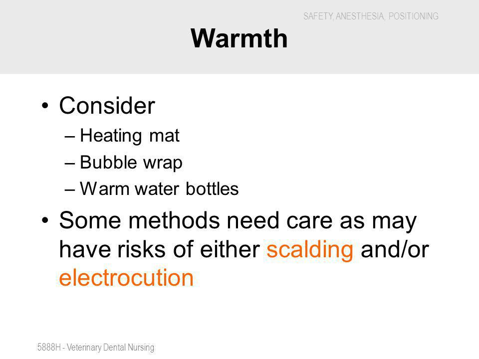 Warmth Consider. Heating mat. Bubble wrap. Warm water bottles. Some methods need care as may have risks of either scalding and/or electrocution.