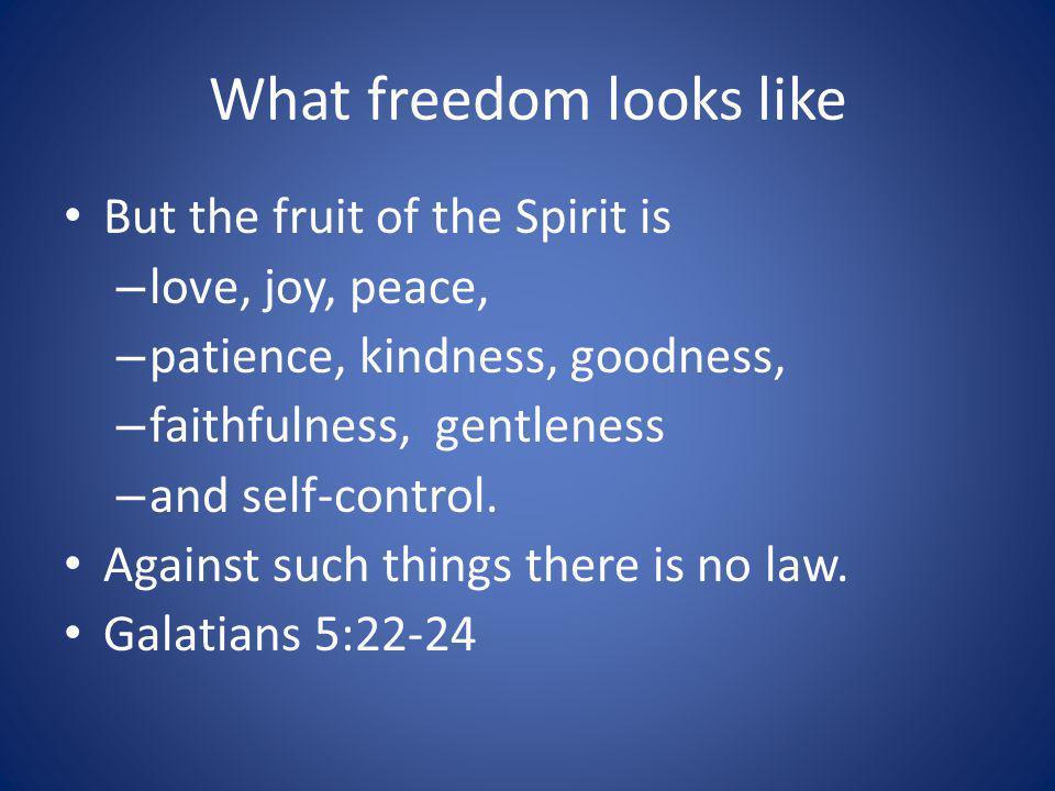 What freedom looks like