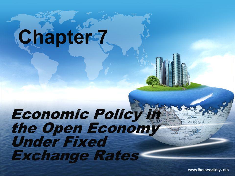 Economic Policy in the Open Economy Under Fixed Exchange Rates