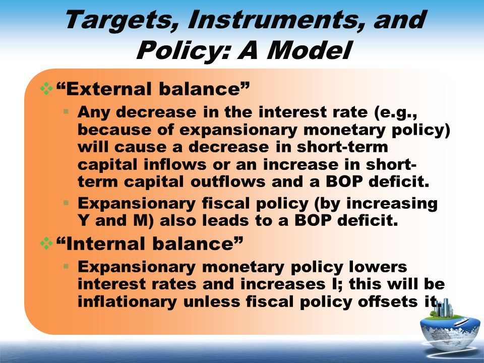 Targets, Instruments, and Policy: A Model