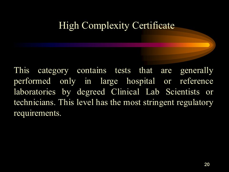 High Complexity Certificate