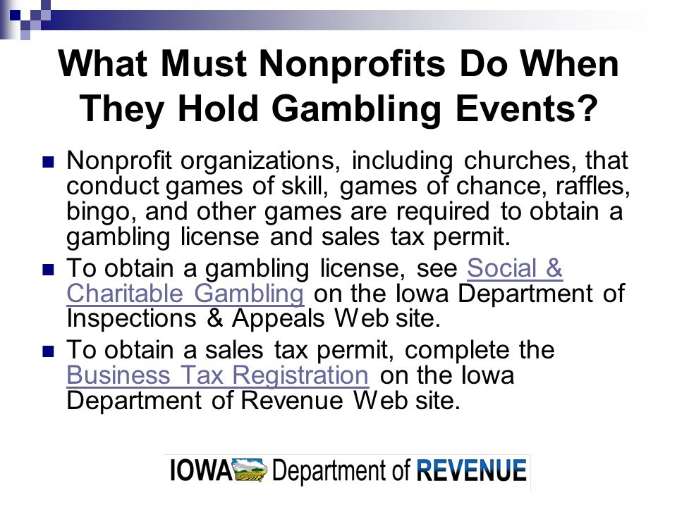 What Must Nonprofits Do When They Hold Gambling Events
