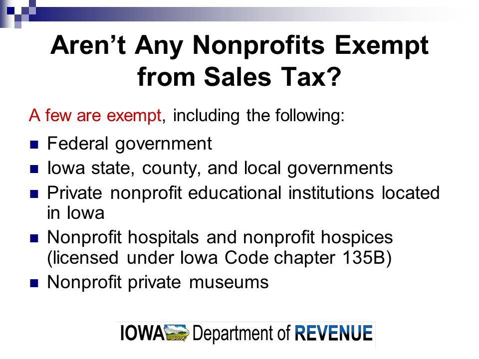 Aren't Any Nonprofits Exempt from Sales Tax