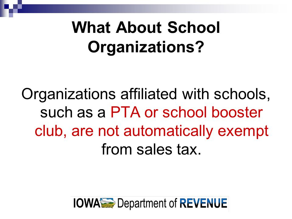 What About School Organizations