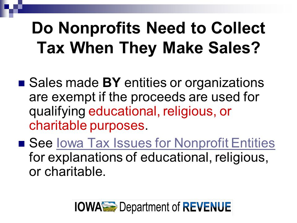 Do Nonprofits Need to Collect Tax When They Make Sales