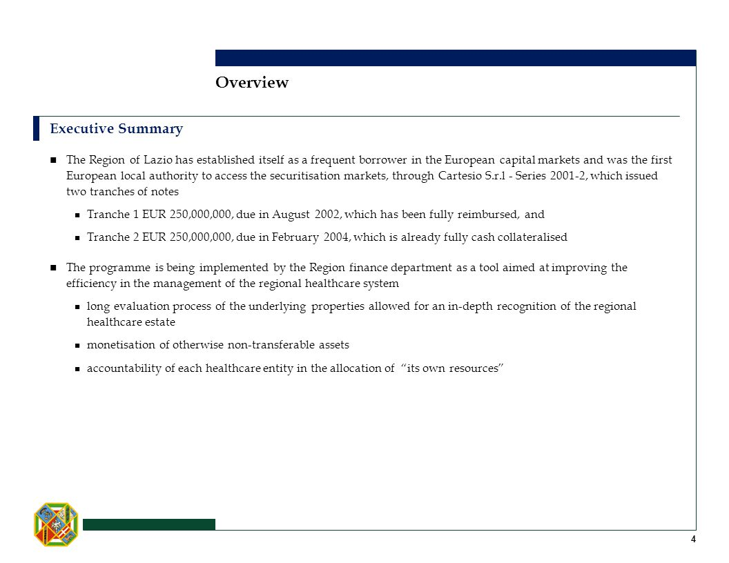 Overview Executive Summary