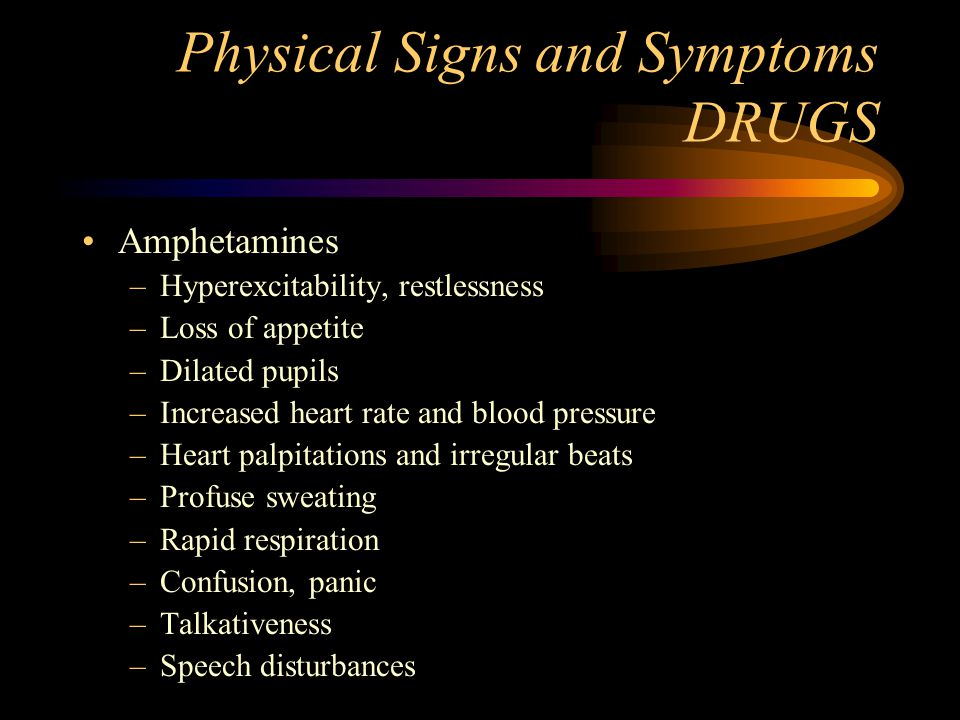 Physical Signs and Symptoms DRUGS