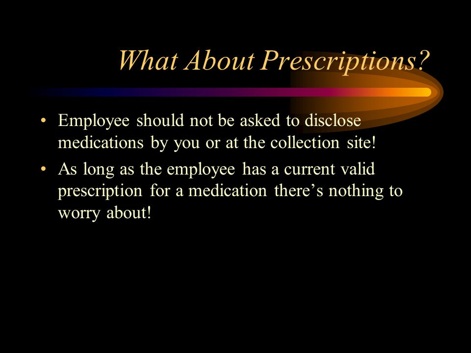 What About Prescriptions