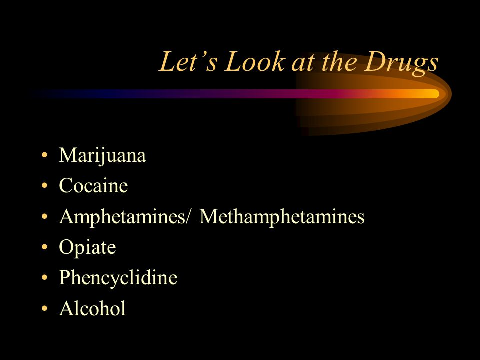 Let's Look at the Drugs Marijuana Cocaine