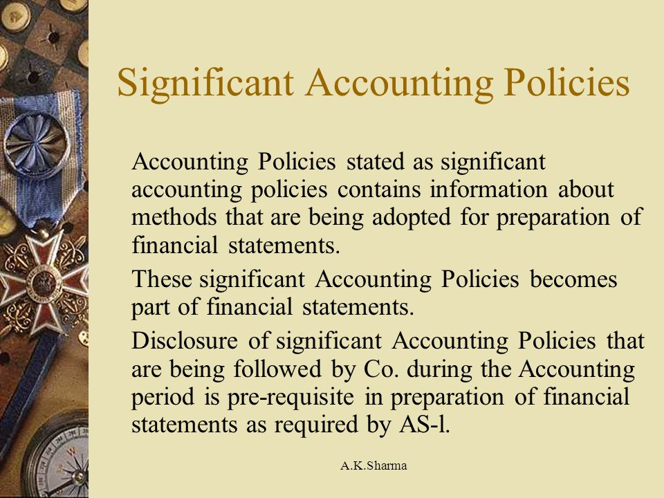 Significant Accounting Policies
