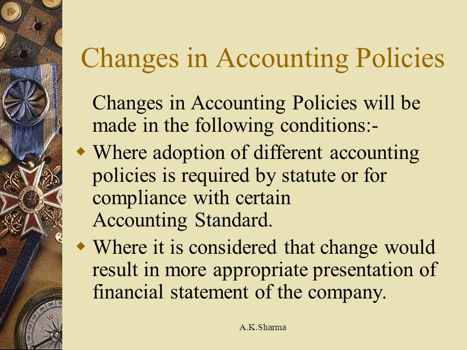 Changes in Accounting Policies