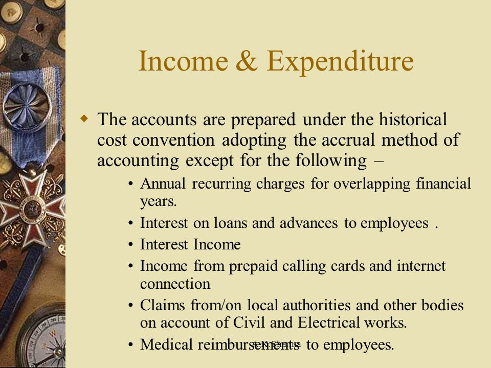 Income & Expenditure