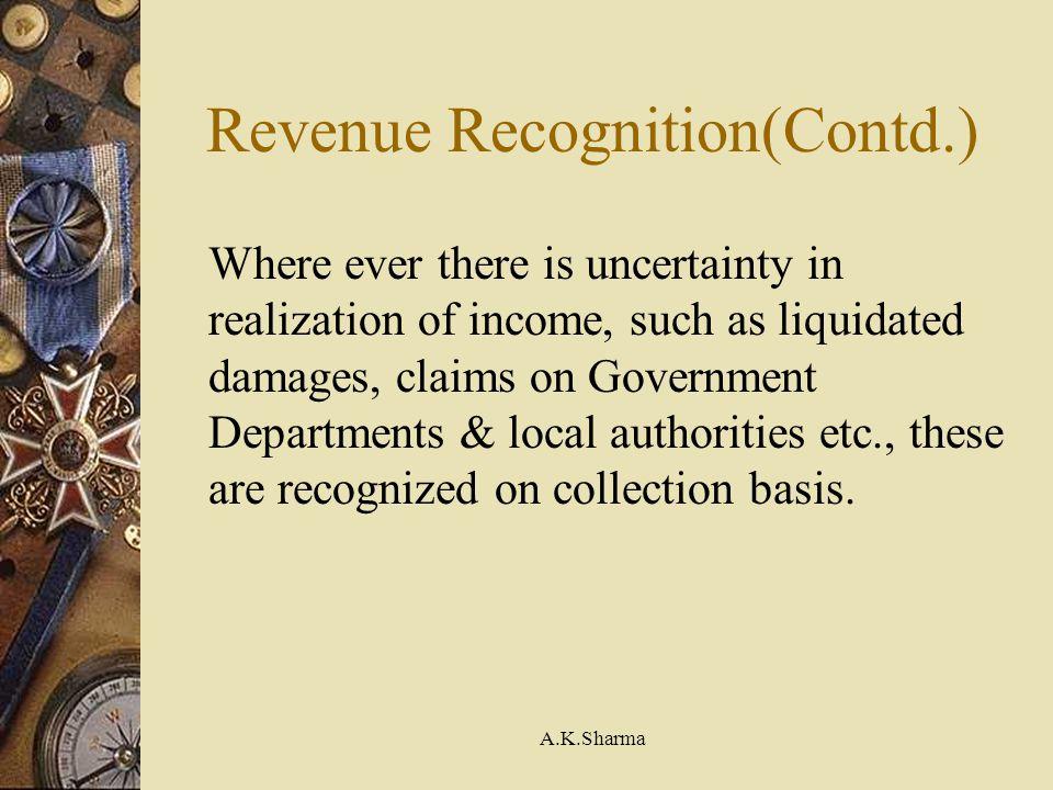 Revenue Recognition(Contd.)