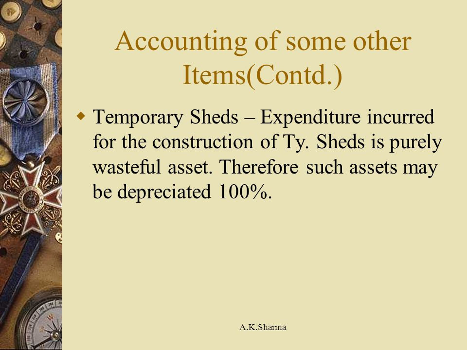 Accounting of some other Items(Contd.)