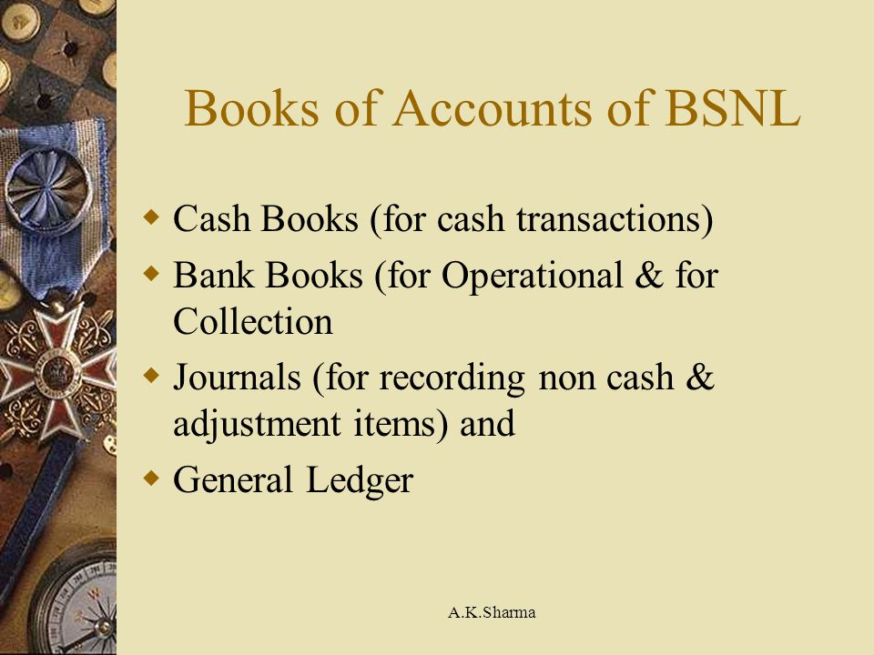 Books of Accounts of BSNL
