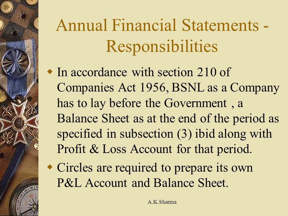 Annual Financial Statements - Responsibilities