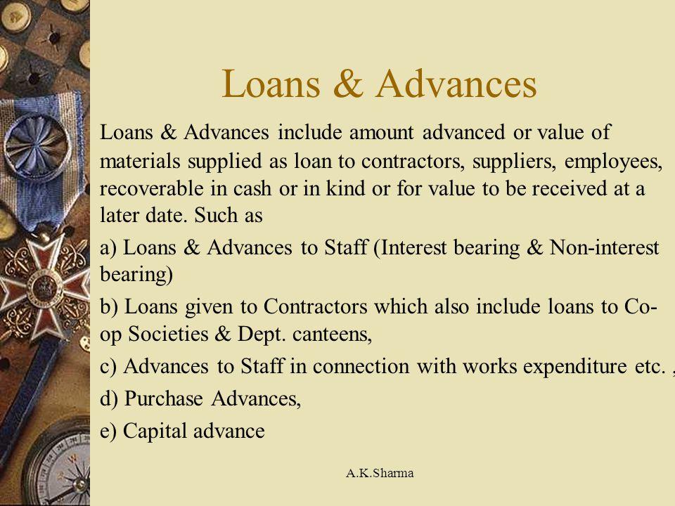 Loans & Advances