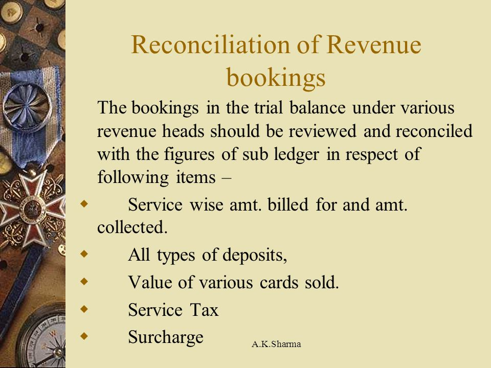 Reconciliation of Revenue bookings