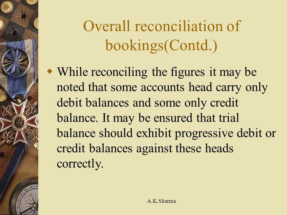 Overall reconciliation of bookings(Contd.)