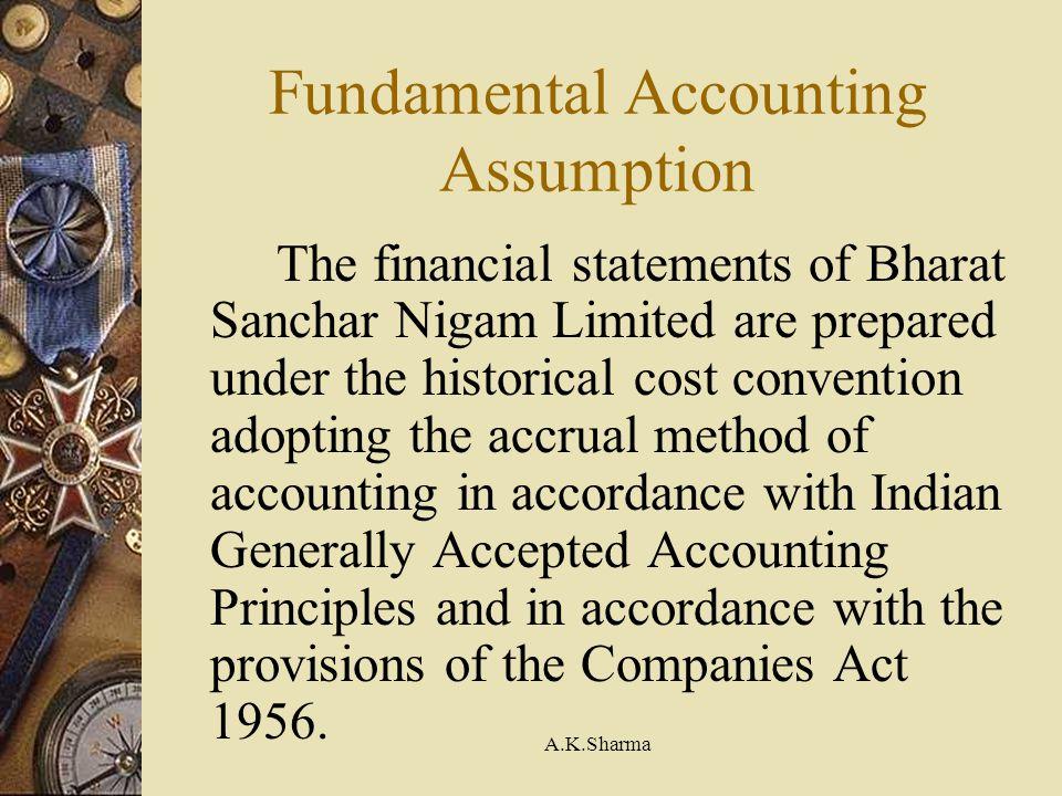 Fundamental Accounting Assumption