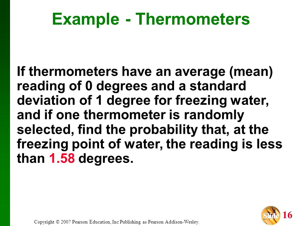 Example - Thermometers