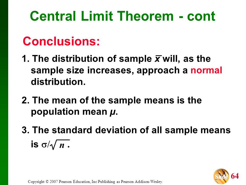 Central Limit Theorem - cont